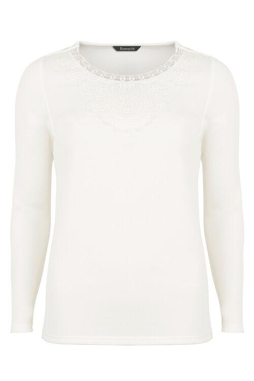 Lace Trim Sweatshirt