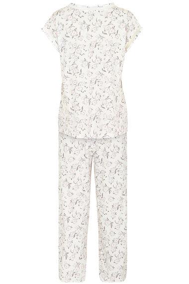 Floral Mesh Trim Pyjamas