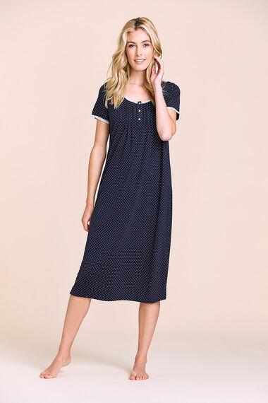 Navy Spot Nightdress