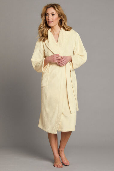 Soft Touch Textured Dressing Gown