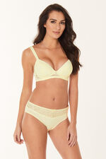 Non Wired Padded Lace Trim Bra
