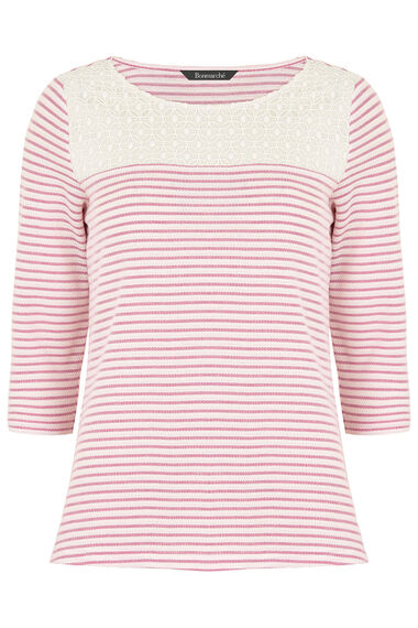 Stripe Textured Rib T-Shirt