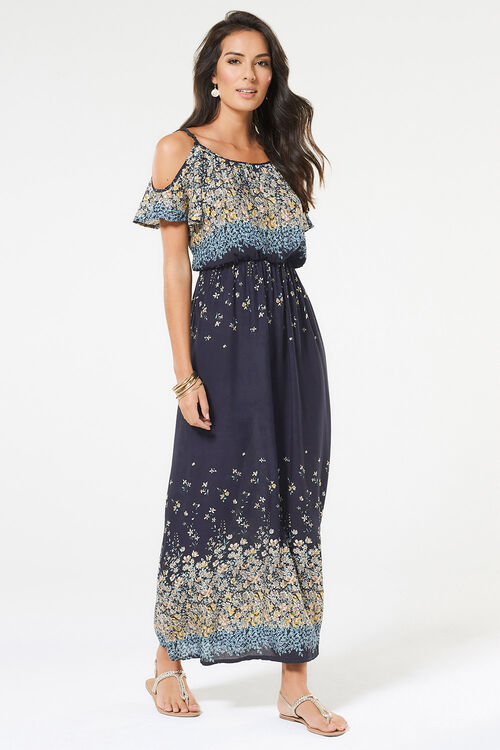 Izabel Cold Shoulder Maxi Dress