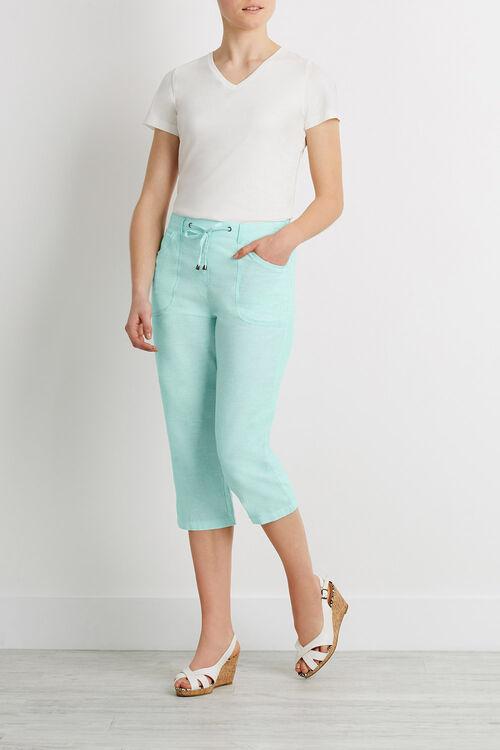 Linen Cross Dye Crop Trousers