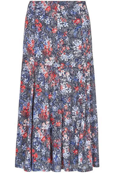 Floral Burnout Skirt