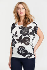 Stella Morgan Rose Printed Top