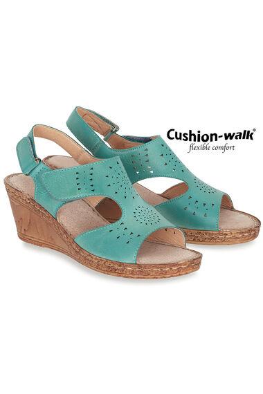 Cushion Walk Touch Fasten Sling Back Wedge Sandal