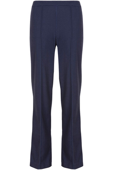 Pin Dot Ponte Wide Leg Trousers