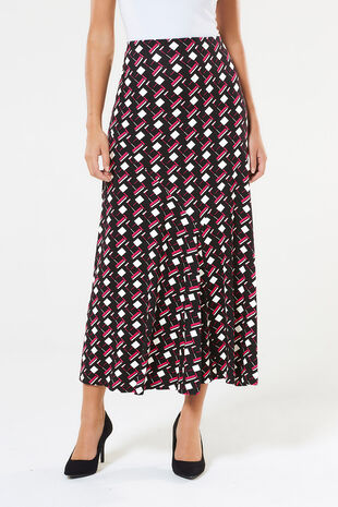 Printed Cut About Maxi Skirt