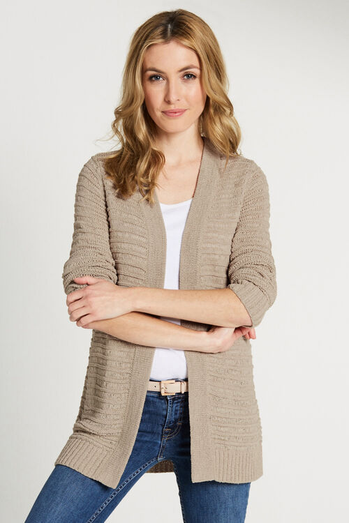 Tape Yarn Edge To Edge Cardigan