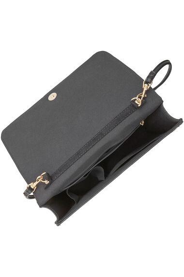 Faux Suede Bow Clutch Bag