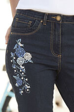 The BETTY Embroidered Denim Crop