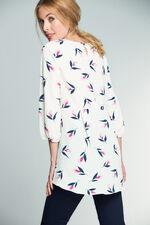 Tulip Print Tunic Top