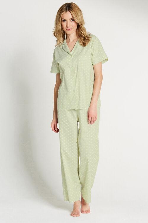 Spot Print Woven Pyjamas