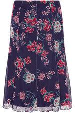 Printed Spot Mesh Skirt