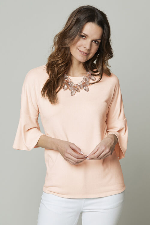 Soft Touch Frill Sleeve Jumper
