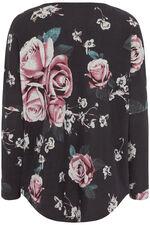 Stella Morgan Rose Print Top with Zip