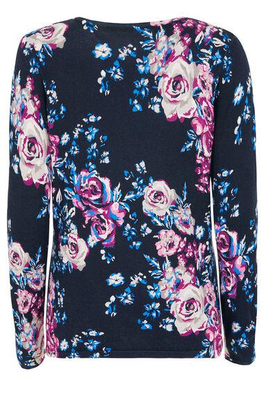 Rose Print Sweater