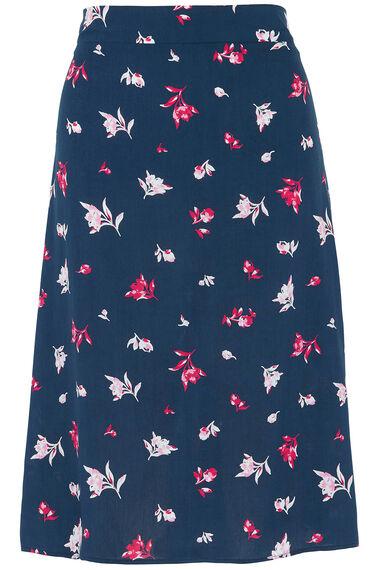 Printed A Line Flippy Skirt