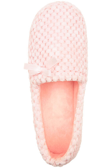 Textured Moccasin Slipper
