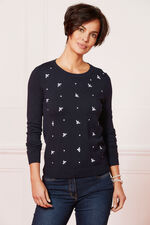 Bee Embroidered Jumper