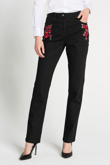 Rose Embroidered Jeans