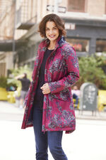 Orchid Print Waterproof Coat