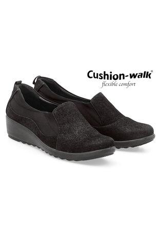 Cushion Walk Slip On Wedge Shoe
