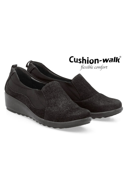 Cushion Walk Slip On Wedge Shoe