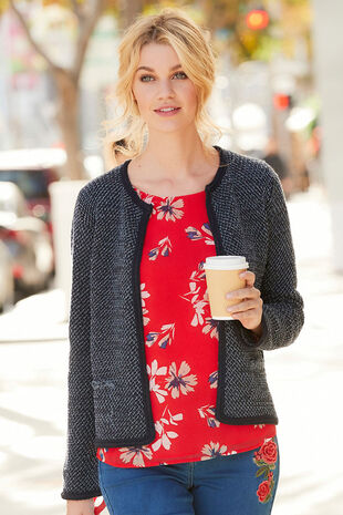 Braid Trim Cardigan