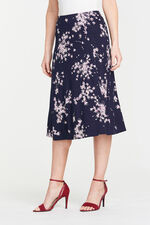 Printed Jersey A Line Skirt
