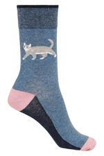 3 Pack Cat Printed Sock