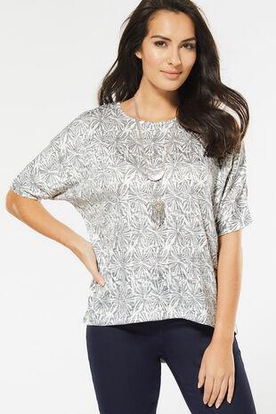 Oversized Aztec Print T-Shirt