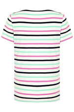 Stripe Lace Up T-Shirt