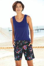Floral Print Essential Cotton Shorts