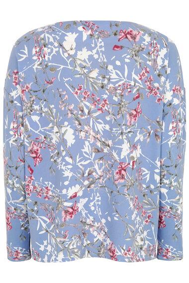 Floral Print Crew Neck Sweater
