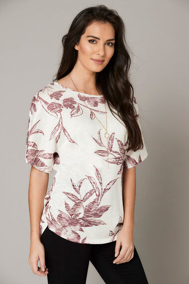 Floral Printed Tunic with Necklace