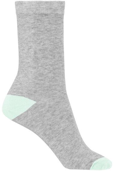 5 Pack Pastel Contrast Heel & Toe Sock