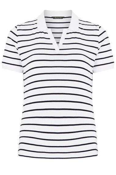 Stripe Polo Short Sleeve T-Shirt