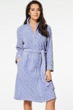 Shawl Collar Zip Front Gown