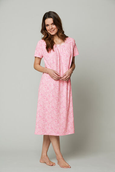 Pink Ditsy Floral Nightdress