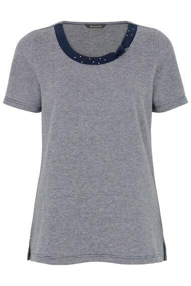 Knot Detail Stripe T-Shirt