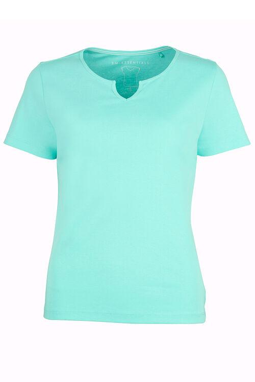Notch Neck Cotton T-Shirt
