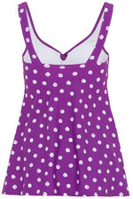 Spot Print Twist Swimdress