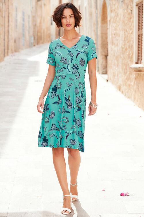 Batik Print Tea Dress
