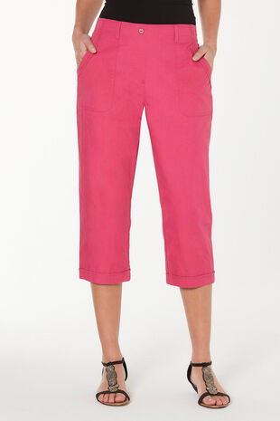 Essential Cotton Cropped Trousers