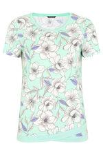 Overized Floral Wrap Hem T-Shirt
