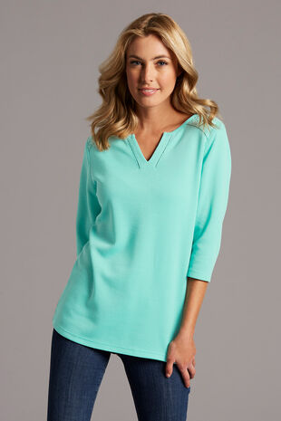 Textured Rib T-Shirt with Lace