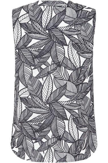 Printed Sleeveless V Neck Top