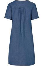 Denim Pintuck Dress